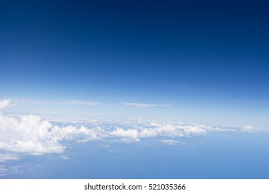 The beautiful bright blue sky , white clouds floating in the sky use as wallpapers or backgrounds.