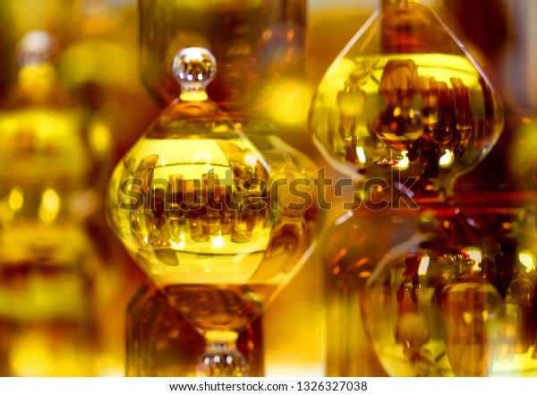 Beautiful bright color photo background with crystal unusual elements and reflections