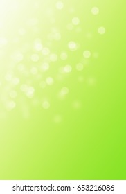 Beautiful bright green bokeh background for your own creations