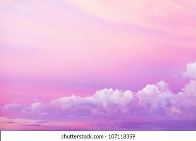 Beautiful bright sky with clouds