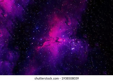 A beautiful, bright space nebula. Elements of this image were furnished by NASA. High quality photo