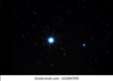a beautiful bright star sirius