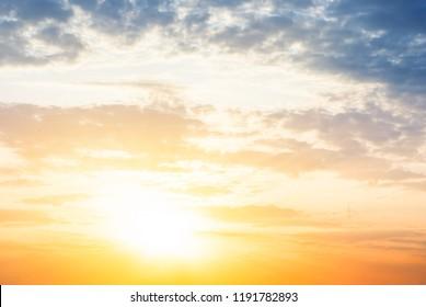 beautiful bright sunset, nature background
