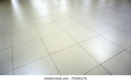 White Glossy Ceramic Tile Floor Pattern Stock Illustration Royalty