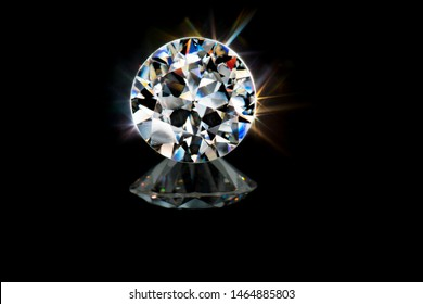 Beautiful brilliant cut colorful brillance sparkling diamond gem stone.