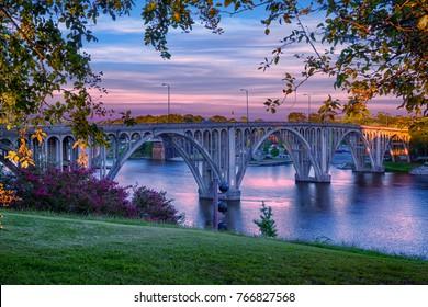 Beautiful Broad Street Bridge in Gadsden, Alabama