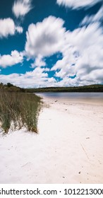 Beautiful Brown lake during the day on Stradbroke Island, Queensland.