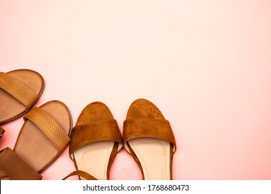 beautiful brown woman summer sundal and heel shoes