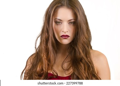 Beautiful Brunette Female with Long Hair