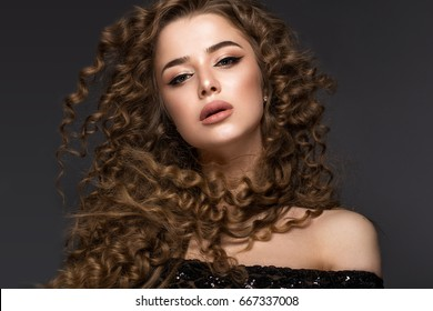 Royalty Free Curly Hair Model Stock Images Photos Vectors