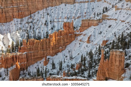 Beautiful Bryce Canyon National Park in winter.