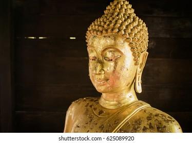Beautiful Buddha face.