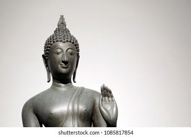 A beautiful Buddha sculpture in Sukhothai era, 15th century, Thailand