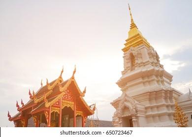 Beautiful Buddhist Pagoda in Arun Dhamma Sathan at Kao Ya Di Kaeng Khro Chaiyaphum Thailand