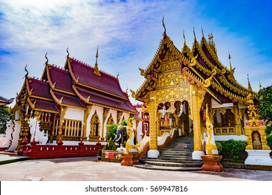 Beautiful Buddhist temple Chiang Mai, Thailand