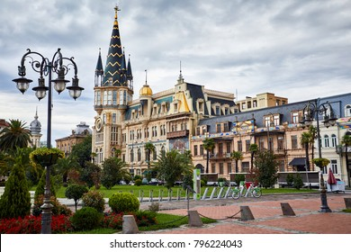 Beautiful building at Europe Square in Batumi, Georgia
