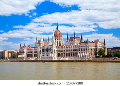the beautiful building of the Parliament in Budapest, Hungary