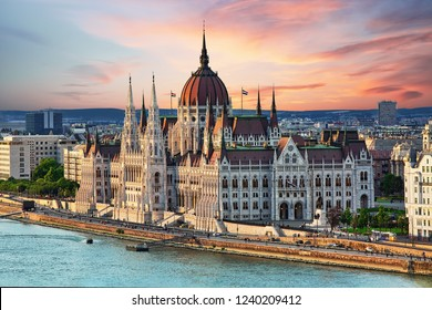 Beautiful building of Parliament in Budapest, popular travel destination