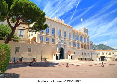 Beautiful building of Prince's Palace in Monaco-ville, Monaco