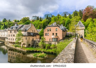 Beautiful buildings in Pfaffenthal, Luxembourg City