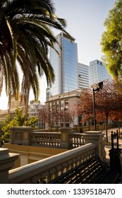 Beautiful buildings at Santiago de Chile