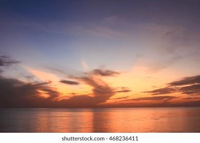 Beautiful and Burning Sky During Sunrise