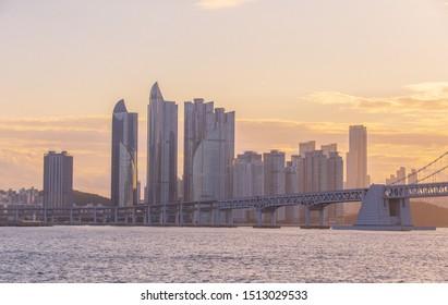 Beautiful  Busan and Marine City in Busan South Korea, 12 September 2019 , Busan South Korea