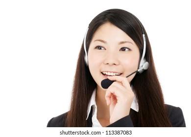 Beautiful business operator. Portrait of asian.