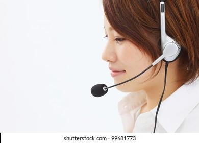 Beautiful business operator. Portrait of asian woman.