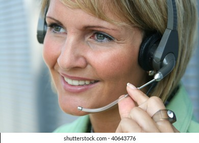 Beautiful business woman call and phone