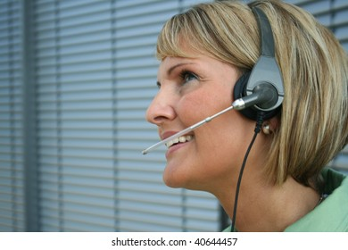 beautiful business woman -  call and phone