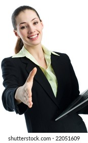 a beautiful business woman enjoying her success