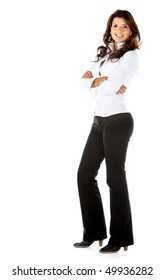 Beautiful business woman isolated over a white background