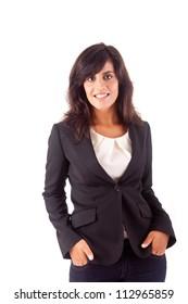 Beautiful business woman posing