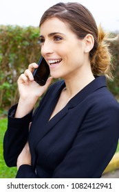 Beautiful business woman smiling happy