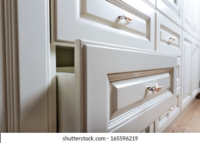 beautiful cabinet with drawers in a modern room