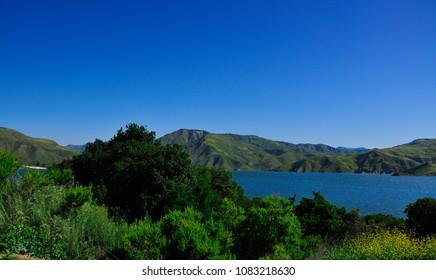 Beautiful Cachuma lake California, USA