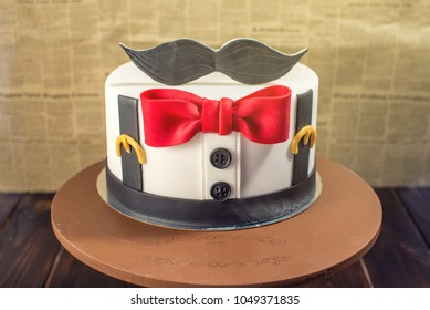 Awesome Moustache Cake Images Stock Photos Vectors Shutterstock Funny Birthday Cards Online Necthendildamsfinfo