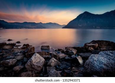 beautiful calm water lake landscape