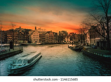 the beautiful canal of amsterdam