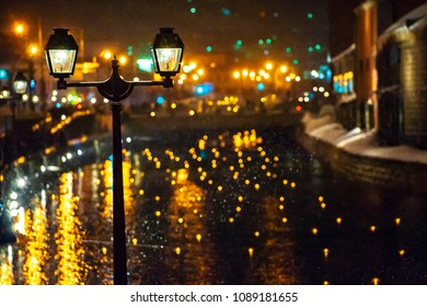 A beautiful canal in Otaru City, Hokkaido, Japan