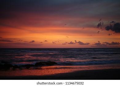 Beautiful Canggu Sunset Bali.