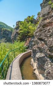 Beautiful canyon river of fresh water