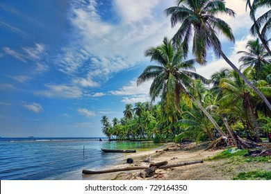 Beautiful caribbean island in Nicaragua