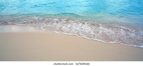 Beautiful caribbean sea and blue sky .Sommer ocean landscape as background. - Shutterstock ID 1675049260