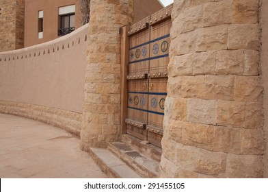 Beautiful carved door in Riyadh, Saudi Arabia.