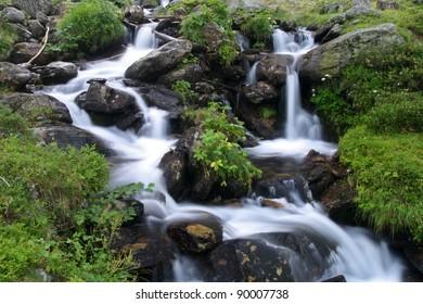 Beautiful Cascade falls in Switzerland