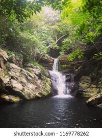 A beautiful cascade from the Nagalapuram trek, India.