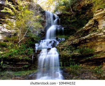 Beautiful Cascade water falls in West Virginia