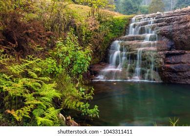 Beautiful cascading waterfall called Liril falls in Kodaikanal, India